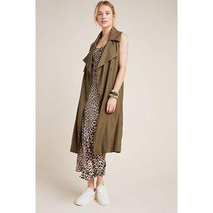 Anthropologie Hollis Linen Trench Coat Vest - NWT